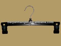 Black rubber paint plastic pants hanger