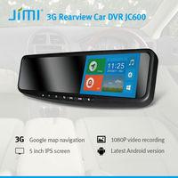 JiMi Newest 3G Smart Rearview Mirror DVR 3g mobile gps g-sensor dual camera car dvr dvr