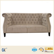 Modern living room furniture chesterfield leather 3 seater sofa