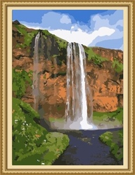 40*50cm home decoration waterfall landscape oil painting