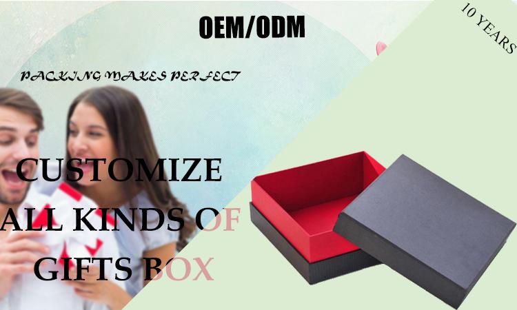 Embalagem Da Caixa de Presente de Papelão de alta Qualidade Preto