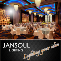 JANSOUL modern crystal ball decorate ceiling net light for hotel