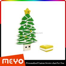 Warehouse Custom made Christmas Tree Shpe USB Flash Drive Christmas Gift Item