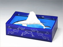 newest 100% Acrylic Tissue Box with Four Magnets PMMA Plexi Perspex acrylic tissue display