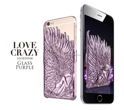 New arrival Fancy Purple ABS Angle Wing back case for Iphone 5