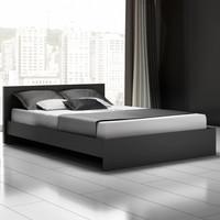 4-5 Stars Modern Design Hotel Furniture Solid Wood Hotel Beds