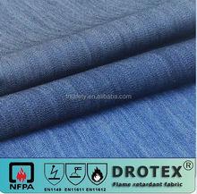 12oz stretchable Arc safe fire retardant 98% cotton 2% stretch yarn denim fabric jean fabric roll