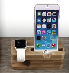 100% Natural for Apple Watch Stand 2 in 1 for iPhone