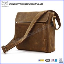 New arrival top grade genuine leather laptop bag for men
