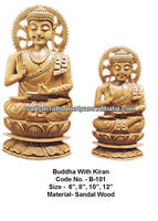 wood crafts sitting buddha statue/sandalwood buddha statue/sandalwood buddha