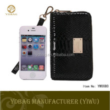 Snake skin universal smart phone wallet style leather case