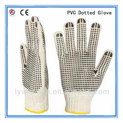 gloves pvc dot/gloves with pvc dots glove/pvc dotted safety gloves