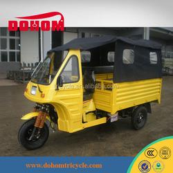 China passenger Middle engine bajaj three wheel motorcycle/Tuk Tuk
