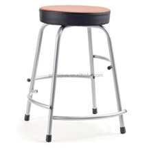 New Red PU Stackable Chairs with Four Legs