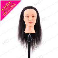 Lindsey hairdresser mannequin head training head,human hair mannequin head