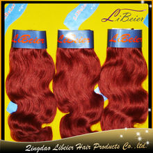 fashion new design body wave 100% brazilian virgin remy hair weave color 99j