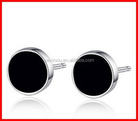 2015 Trendy Mens Earring Stud in Real Gold Plating and Silver Pins Cheap Mens Jewelry Earring