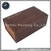 New Product Wooden Vintage Leather Wine Packaging Box with Accessories WB007Z