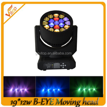 Factory Direct Export B-Eye 4in1 RGBW 19pcs 12w Mini Hobbit LED Moving Head