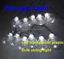 decorative Christmas lights clear mini bulb lighting plastic string light LED
