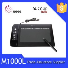 Ugee M1000L Multitouch tablet with gesture support pen with 2048 levels of pressure sensitivityMultitouch tablet with gesture su