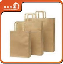 Costom logo printing kraft paper handbag