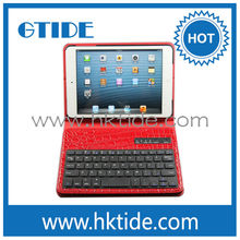 wireless bluetooth keyboard 360 degree ratating case with bluetooth keyboard for iPad mini mini wireless keyboard