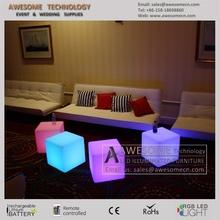 2015 New Design Functional Plastic LED Cube for bar&nightclub