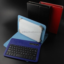Colorful Keyboard Designed for 7 and 8 inch universal tablet Wireless Bluetooth Keyboard leather