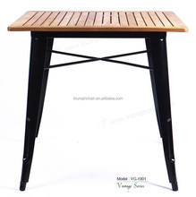 Triumph Marais Dining table/Wooden Dining Table/Teak Wood Metal Cafe chair