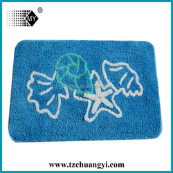 microfiber shell-shaped bath mat