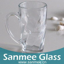 Hot Sale 363ml Transparent Beer Glass With Handle Factory