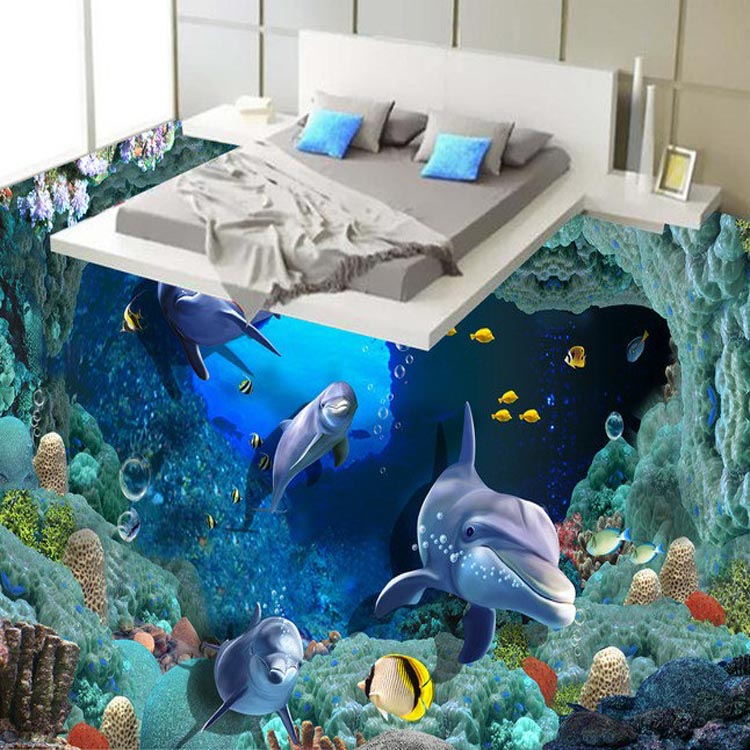 mural  buy 3d floor fish murals,sea ceiling mural,background mural