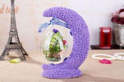 New essential oil gift set fairy garden supplies automatic gift wrapping machine , artificial flowers for gift packing