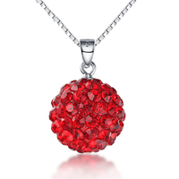 Yiwu Jewelry Factory New Arrival Big Round Ball Shaped Colorful Pendant Crystal Accessories Women Jewelry Findings