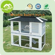 Item no RH-1270T White wooden 2 story rabbit hutches with tray