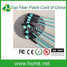 high quality MPO OM3 Optical Fiber Patch Cord on production