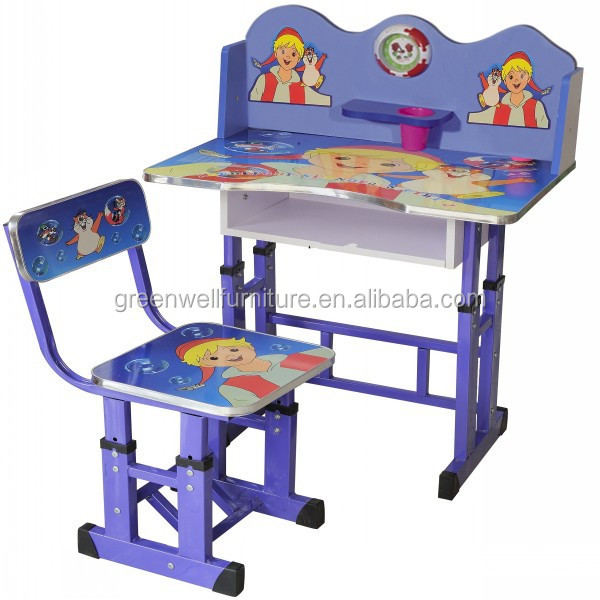 Cheap Wooden Kids Study Table And Chair Set For Kindergarten - Buy ...