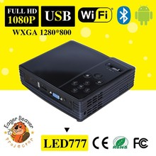 Android 4.2 Portable DLP Projector with 500 ANSI Lumens, Wi-Fi, DLNA, 1080p Support