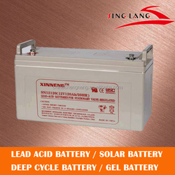 High rate best deep cycle life battery 12V 120AH for golf car solar battery