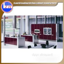 ZHUV kitchen cabinets Red Bespoke Modular Modern Kitchen cabinet