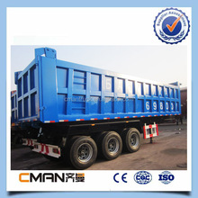 New 3 axle 50T heavy duty dump semi trailer price cheap for sale