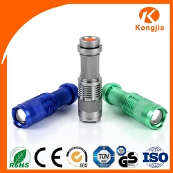 Portable Flashlight Aluminum Alloy Torch Super Bright Rechargeable Dry Battery Led 5W Grow Light