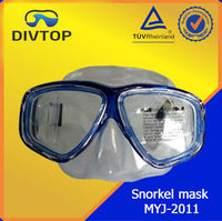 2015 Clear Snorkeling Blue Breath Free Silicone Female Mask