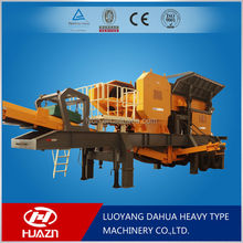 Luoyang Dahua silver granite mobile crusher YD mobile crushing plant