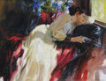 arte da lona da pintura a óleo impressionismo de fine art handpainted