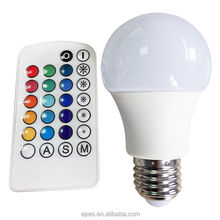 Best Price Home&Party RGB 16 colors A60 E27 LED Lamp with remote controller