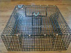 Anping pvc coated crab trap wire cage ,welded mesh for cages ,rock cage