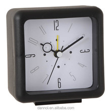 Square plastic bedside clock with alarm/ discount clocks