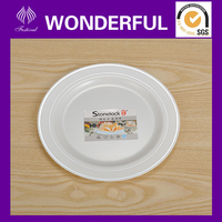 disposable plastic gold and silver rimmed round plate
